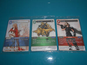 Final Fantasy trading card game lot 3 booster OPUS 1 promo chocobo ovelia clood