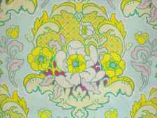 1YD POP GARDEN Pineapple Brocade HB08 Ice Blue Floral Heather Bailey Free Spirit