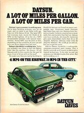 1976 Datsun B-210 Hatchback Gas Economy Car 1975 Vintage Print Ad