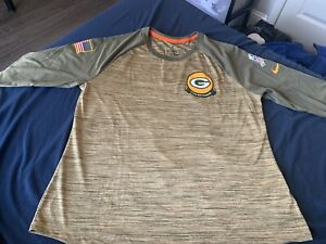 2020 Green Bay Packers Nike Salute to Service Dri-Fit 3/4 Sleeve Shirt XL