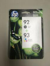 C9513FN-Genuine HP 92/93, Black/Tri-color Original Ink Cartridges, Dated 07/2020
