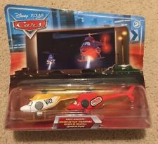 Disney Cars Movie Moments Blue Background Night Skyline Ron Hover Kathy Copter