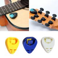 5Pcs Guitar Gitarre Plektrenhalter Plektrumhalter Plektren Picks Kunststoff C9V1