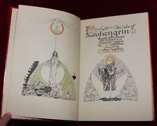 EXRare 1ST 1913 WILLY POGANY RAREST LOHENGRIN ART NOUVEAU DELUXE LEATHER BINDING