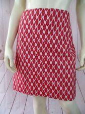 Ann Taylor Petite Skirt 12P Cream Orange Cotton Nylon Spandex Short Straight New