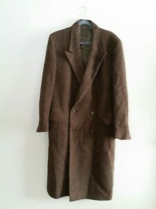 Vintage Mani by Giorgio Armani mens wool tweed coat brown classic dress coat