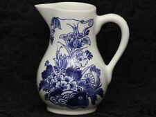 ROYAL DELFT BLUE FLORAL White Ceramic Medium Pitcher
