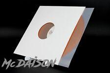 "McDAISON - 10pz COPERTINA CARTONCINO BIANCA CON FORO x DISCHI VINILE LP 12"" MIX"