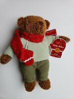 "Hallmark Teddy Mitten Bear Brown Plush Stuffed Animal 12"" Long Nwt"