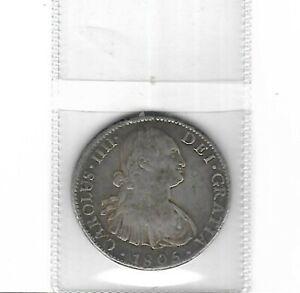 Mexico 1805 90% silver 8 Reales circulated condition .7860 ASW