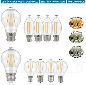 1 2 4 6 10 Pack 25W 40W 60W 100W LED LIGHT BULBS ES E27 BC B22 SES E14 Warm/Cool