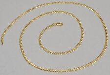 14k Solid Yellow Gold Cuban Curb Link Chain Necklace 20 Inches 4.8 Gr 2.6 mm