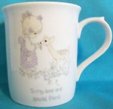 "1985 Precious Moments Coffee Cup ""To My Dear And Special Friend"""