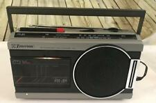 Vintage Emerson K3663 Am/Fm Deluxe Portable Cassette Player Tested and works
