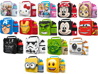 Kids Children Insulated 3D Lunch Bag Box And Drink Bottle Set Sport Water Pack