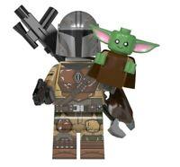 Lego Star Wars Minifigurecompatibile  The Mandalorian rugged+Baby Yoda set New