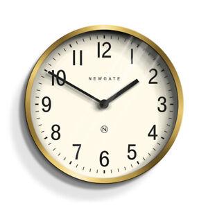 NEWGATE Round Quartz Wall Clock Gold Brass Living Dining Home Office Kitchen