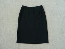 Womens Black Country Road Straight Skirt, Size 6