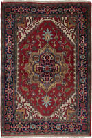 """4'1"""" x 5'11"""" Hand-Knotted Traditional Oriental Wool Area Rug"""