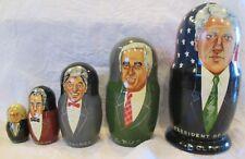 Vintage 1994 U.S. Presidents Nesting Dolls Clinton Bush Reagan Nixon Washington