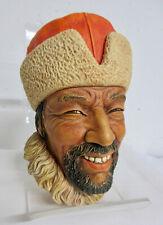 Vintage BOSSONS Chalkware Head Made England Hand Painted HIMALAYAN Man Figure