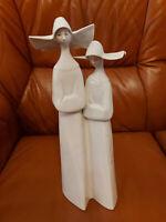 LLADRO Porzellan Figur -Alte LLadro- Zwei Nonnen -