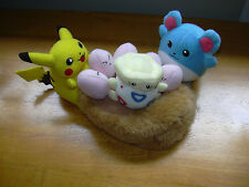 "Pokemon Pikachu Togepi Marill Nest Nintendo 7"" Plush 2001 Pocket Monster Babies"