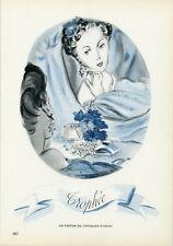 """""""TROPHEE PARFUM DU CHEVALIER D'ORSAY"""" Annonce originale entoilée PLAIRE 1944"""