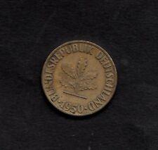 Moneda Alemana 1950 10 Pfennig