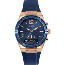 GUESS Connect 41mm Stainless Steel Case Blue Classic Buckle - (C0002M1)