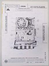 Sams Photofact Radio Parts Manual Sears Silvertone Tape Recorder 528.31636300