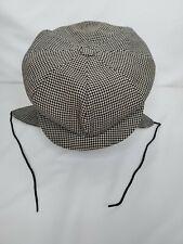 The Pytchley Cap London England Newsboy Cap with Flaps Herringbone Vintage
