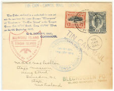 Tonga cover 1937 Huge size TIN CAN MAIL - Many cancels - L@@K