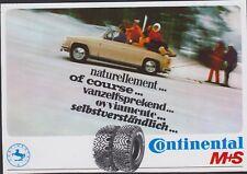 PUBLICITE AUTO-COLLANT STICKER VINTAGE AUTO PNEU CLOU CONTINENTAL/SKIEURS tracté