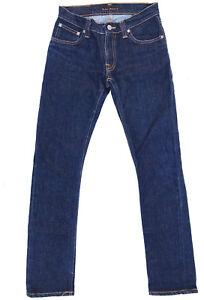 Nudie Jeans 'SUPER SLIM KIM' Dry Stretch Blue Jeans W28 L32 EUC RRP $249 Womens