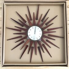NEWGATE Pluto Sunburst Clock 67cm Diameter- (NEW) Decorative Retro Vintage