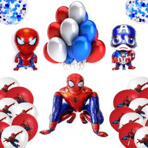 Ballonset Spiderman XXL 3D Capt. America Konfetti Geburtstag Kinder Party Marvel