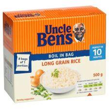 Uncle Ben's Boil in Bag Long Grain Rice (8x62.5g) - Pack of 2