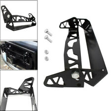 Black Bumper Tilt Rotate License Plate Holder Frame Aluminum Adjustable Back Kit