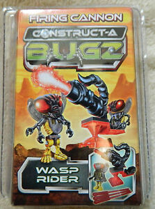 CONSTRUCT A BUGZ WASP RIDER MICRO FIGURE WITH FIRING CANNON NEW
