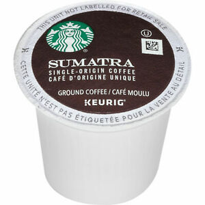 Starbucks Sumatra Dark Roast Coffee K-Cups, Keurig Coffee - Pick Your Quantity