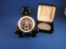 1989 World Champions A's 1 Ounce Silver Art Round World Series (.999)