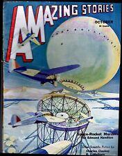 ORIGINAL UNREAD! 1932 'Scientific Fiction' 25c AMAZING STORIES Pulp Mag AIRCRAFT