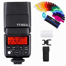 Godox Mini TT350S 2.4G TTL Camera Flash Speedlite for Sony Camera + Gels Filters
