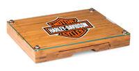 Harley-Davidson® Bar & Shield Bamboo Glass Cheese Cutting Board 919-00-505