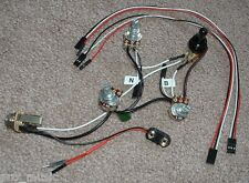 Solderless EZ-INSTALL Wiring KIT Les Paul Metallica Iron Cross JH emg BLACK 3Way