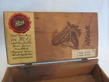 boîte cigares ancienne Rössli bois antique wooden cigar box