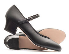"""Ladies Black Character Stage Showtime Dance Shoes All Sizes 1.5"""" Heel By Katz"""