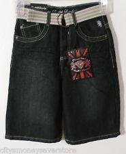 NWT English Laundry Boy's Belted Denim Shorts 16 Dark Wash MSRP$38
