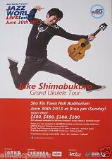 "JAKE SHIMABUKURO 2013 ""GRAND UKULELE TOUR"" HONG KONG CONCERT POSTER"